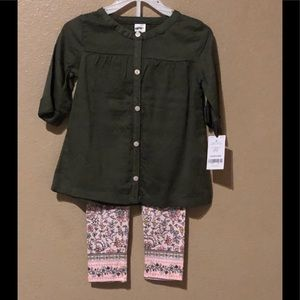 Carter's girls 2 piece outfit